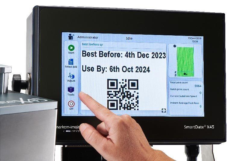 TTO热转印打码机配套分页机应用